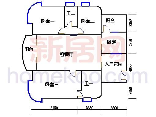 EGJ座标准层户型02单元