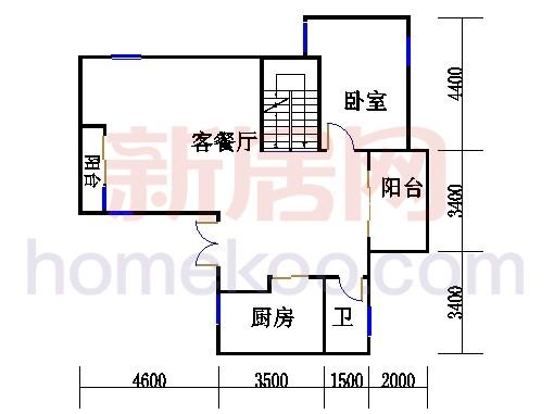 尚林美墅T1-A单元二层