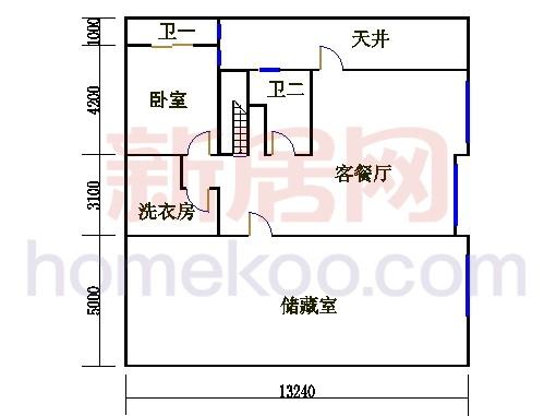 尚林美墅T2-A单元地下层
