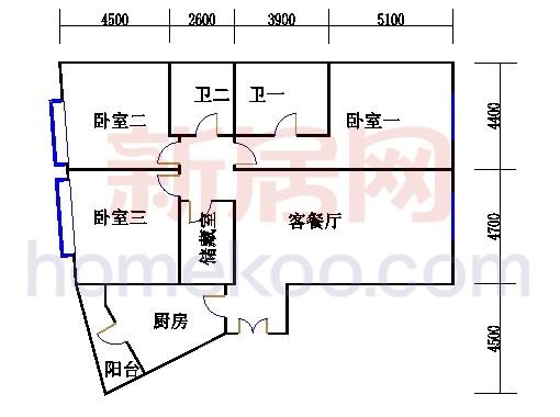 T12-03户型3-31层