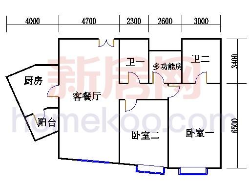 T13-01户型3-31层