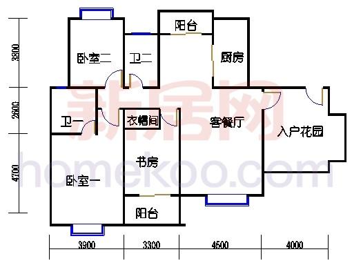 金丰蓝庭C2户型