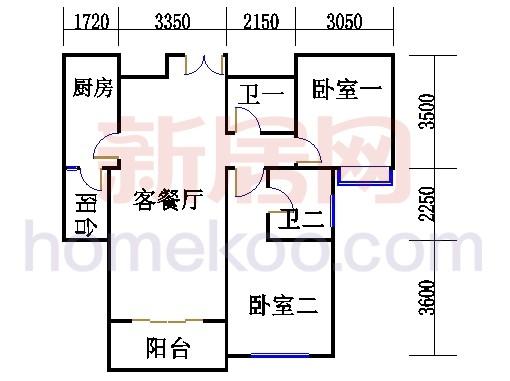 4号公寓B、E单位