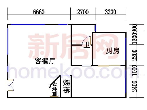 A型叠加别墅1层01单元