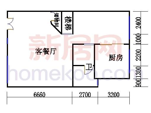 A型叠加别墅1层02单元