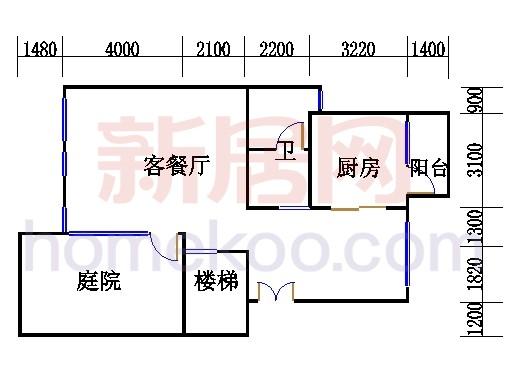 A型叠加别墅3层03单元
