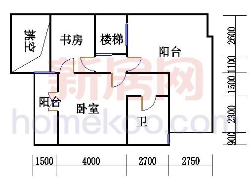 A型叠加别墅5层02单元