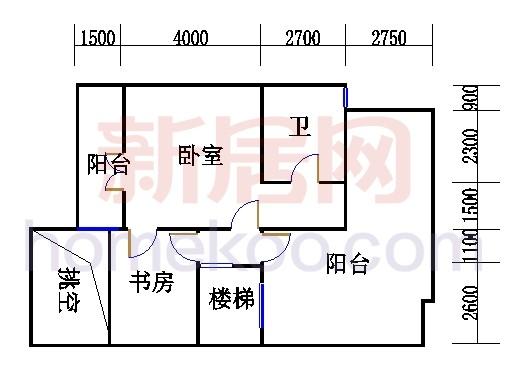 A型叠加别墅5层03单元