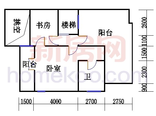 A型叠加别墅5层04单元