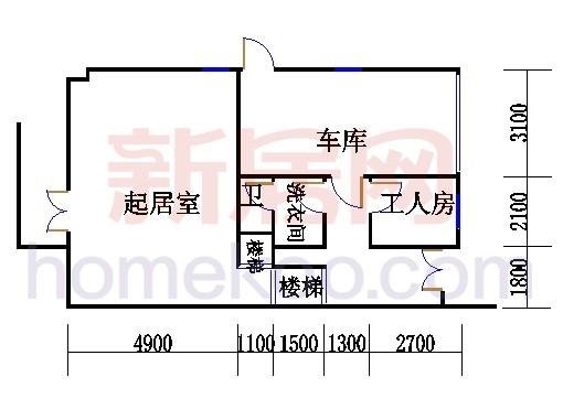 E型双拼别墅1层01单元
