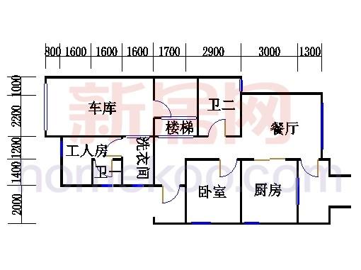F型双拼别墅1层02单元