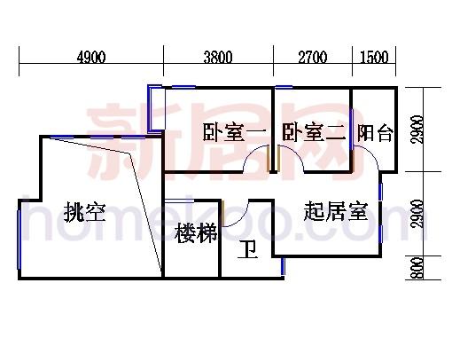 F型双拼别墅2层01单元