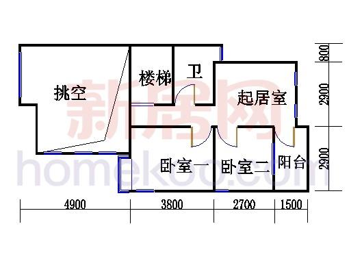 F型双拼别墅2层02单元
