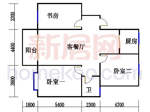 多层A02栋2-5层B户型