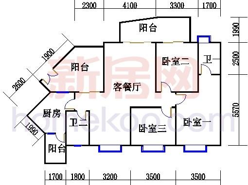 C8栋15-21、25-27层06单元