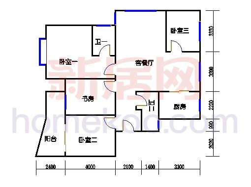 2-5幢标准偶数层03单元02室