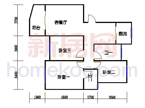 2-5幢标准偶数层03单元01室