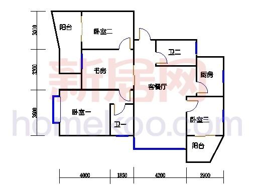 2-5幢标准偶数层01单元01室