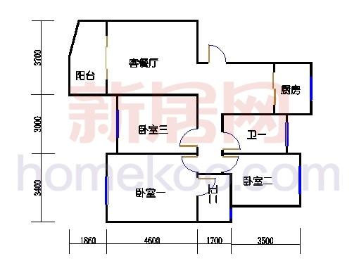 2-5幢标准奇数层03单元01室