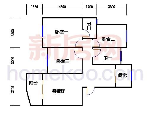 2-5幢标准奇数层01单元02室