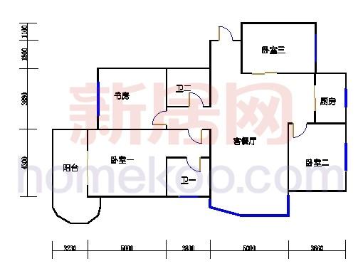11-16幢标准偶数层01单元01室