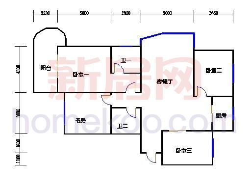 11-16幢标准偶数层02单元03室