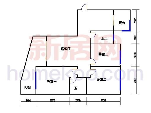 11-16幢标准奇数层02单元01室
