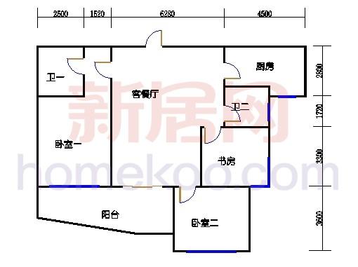 11-16幢标准奇数层02单元02室