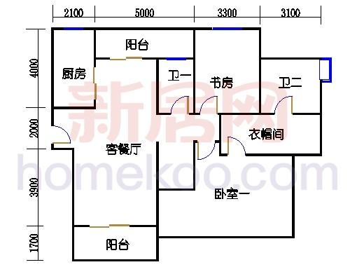 17-18层A3户型复式(上)