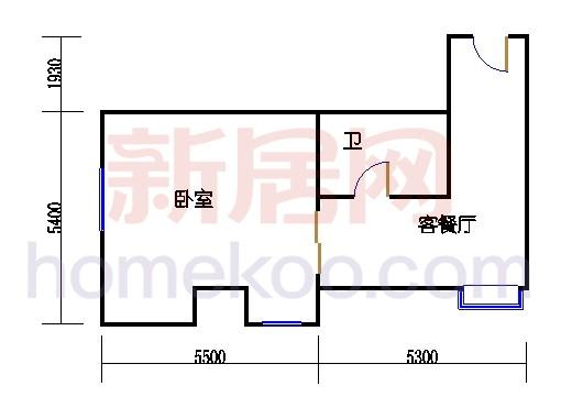 金领公寓标准层01单元