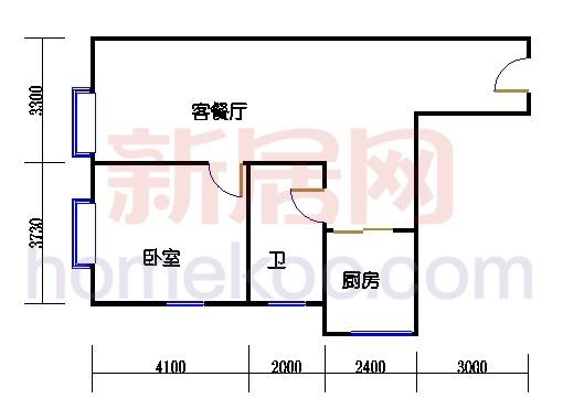 金领公寓标准层04单元