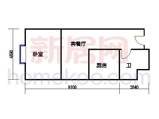 金领公寓标准层08单元