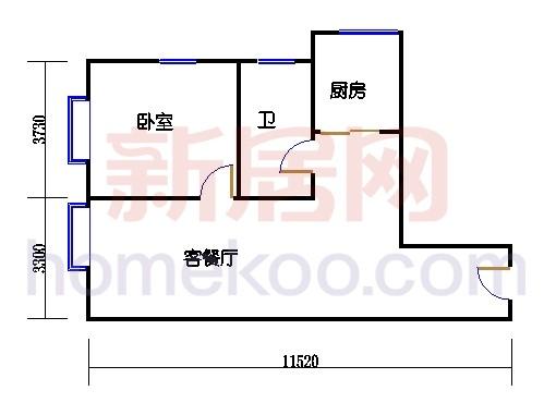 金领公寓标准层09单元
