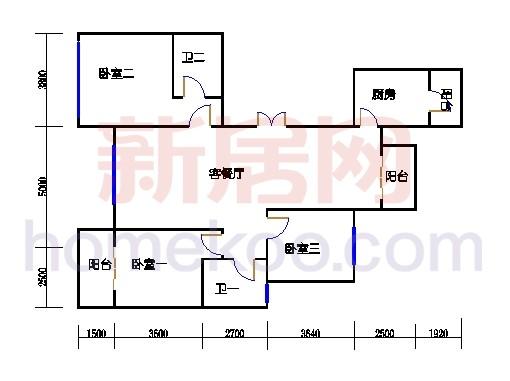 A4型6号楼2单元01室偶数层