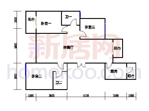 A5型6号楼1单元02室奇数层