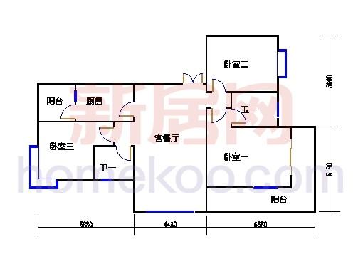 6#碧水轩6a1单位