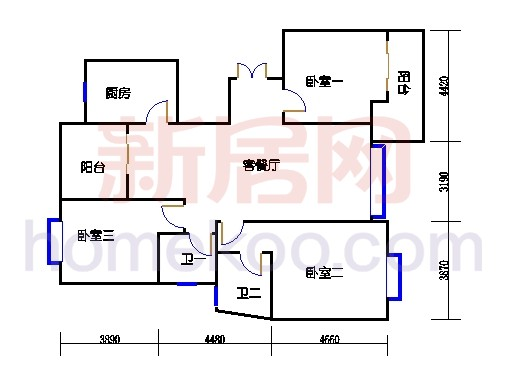 6#碧水轩6d2单位
