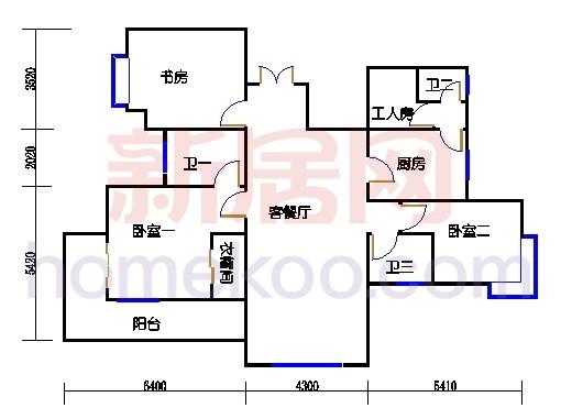 6#碧水轩6i1单位