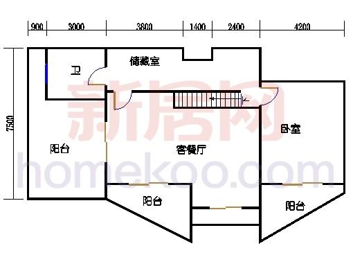 C型房顶层复式上层