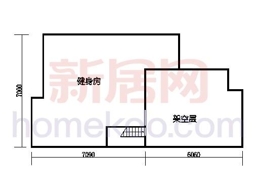 C2排屋中间套单元架空层