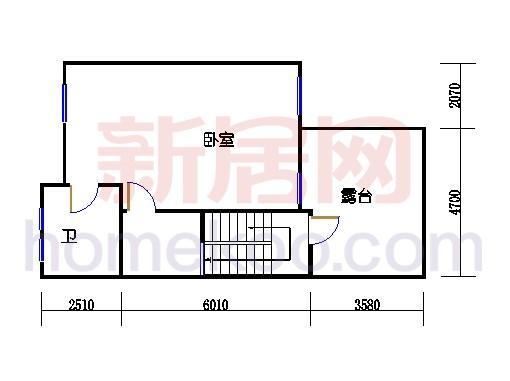 C2排屋中间套单元三层