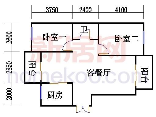天风庭4号标准层A2单元