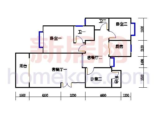 5座三梯4-10层01单元