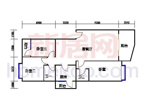 第26、29楼二、三层01单元