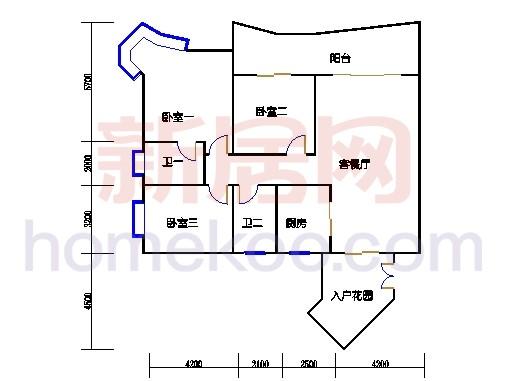 C4栋2-13,22-23,28-30层04单位