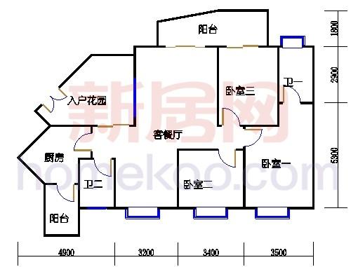 C4栋2-13,22-23,28-30层06单位