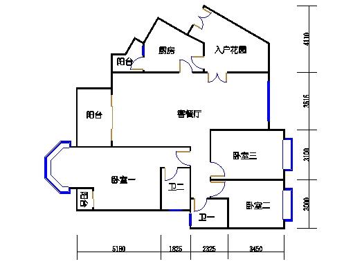 扩拼洋房五座八层04单元