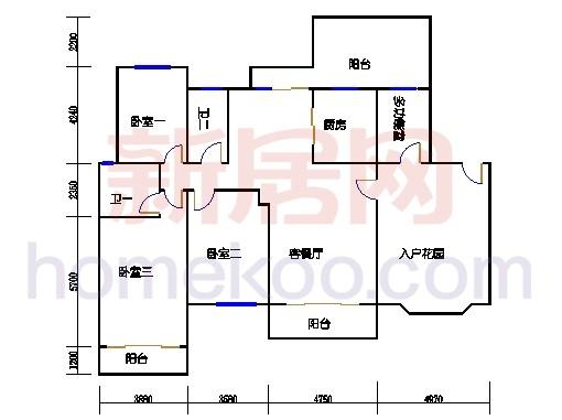 29、30、31、32、33栋标准层02单元