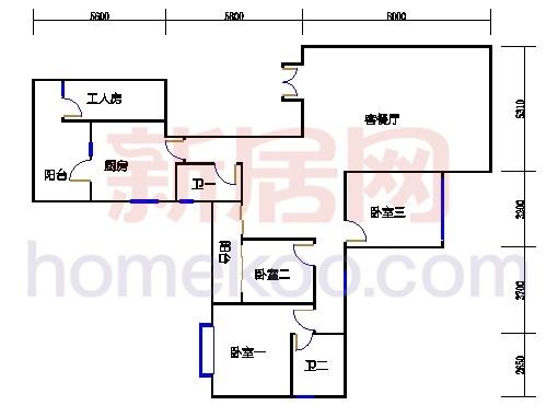 峰领轩14-16层02单位