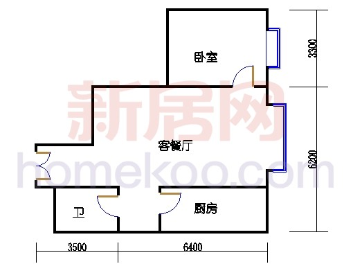 2#楼4-14层D单位